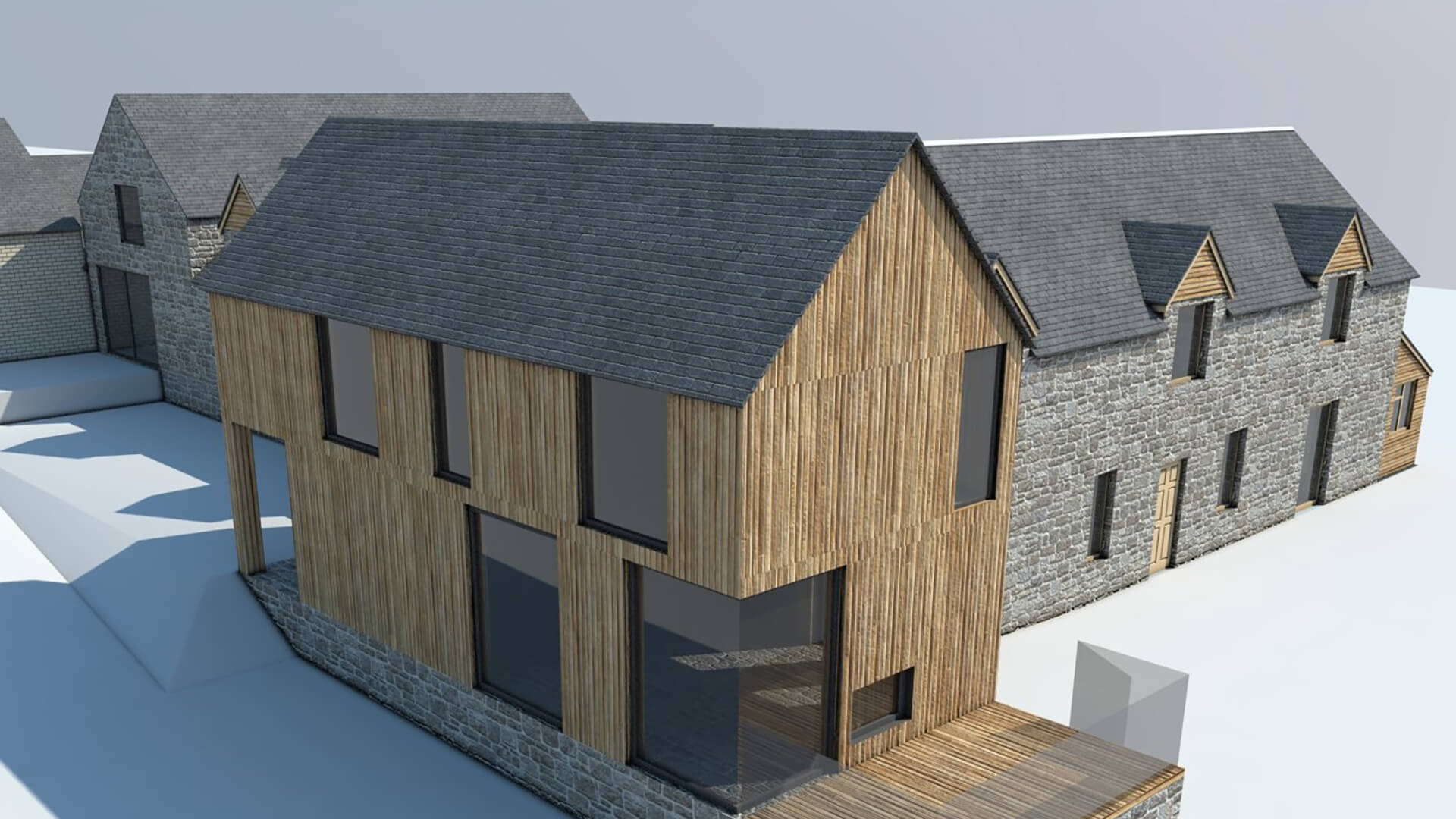 3D cad design for timber building