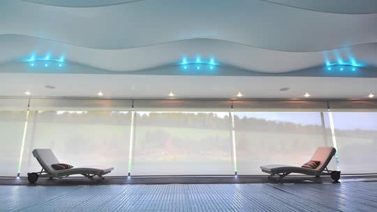bespoke indoor lighting for swimming areas