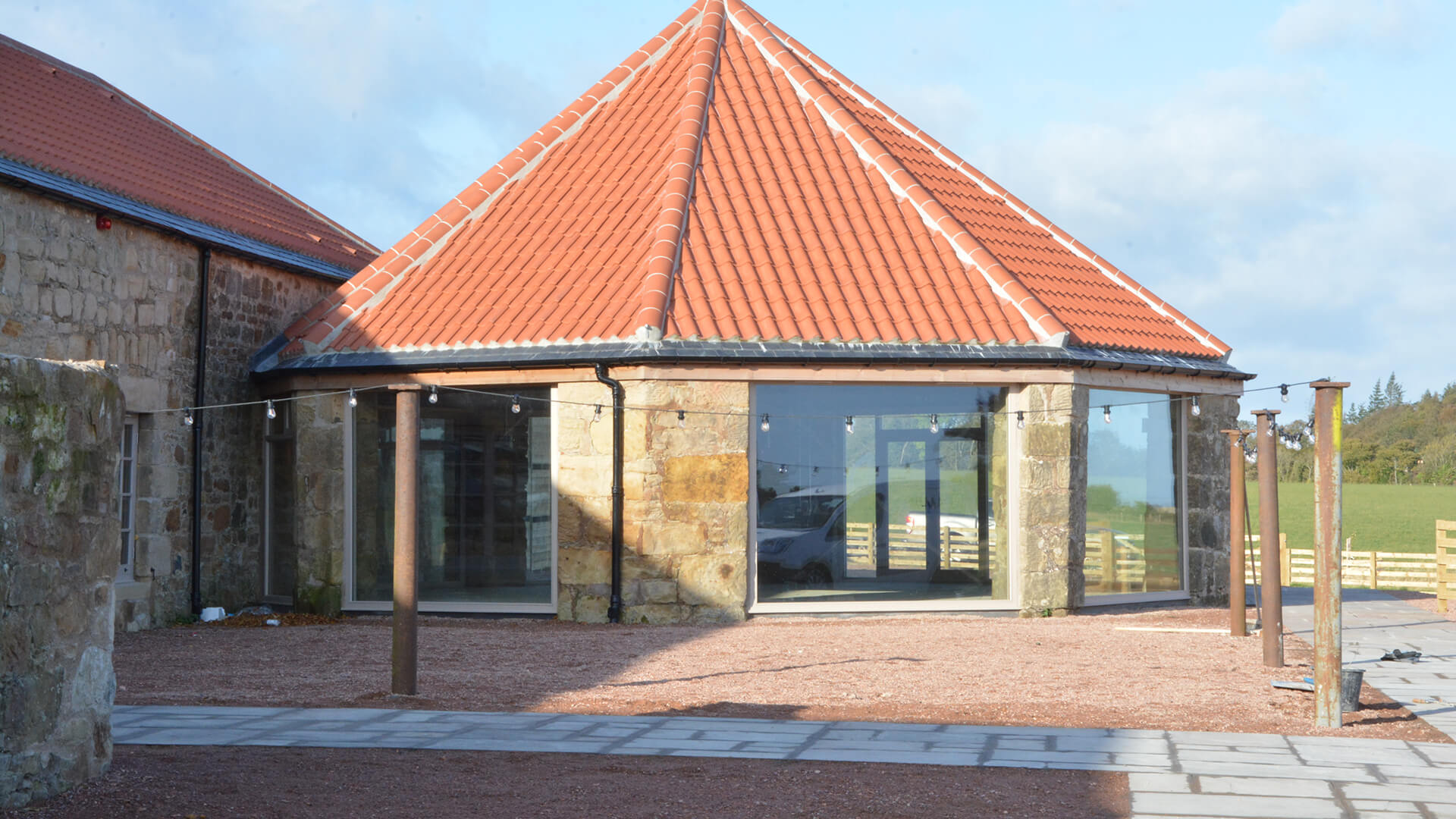 Falside Mill Venue circular part of building