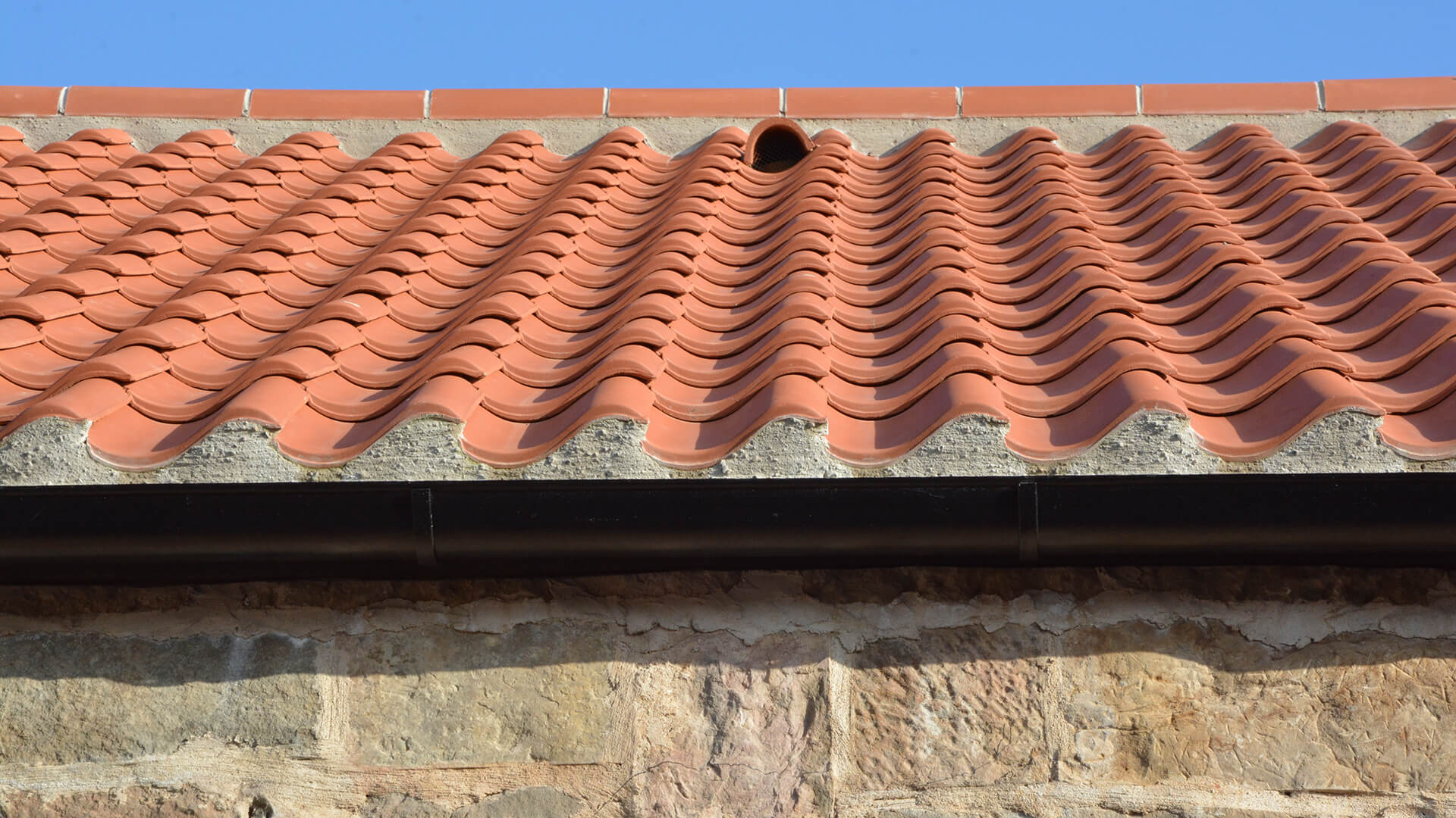 Falside Mill Venue close up of roof outside