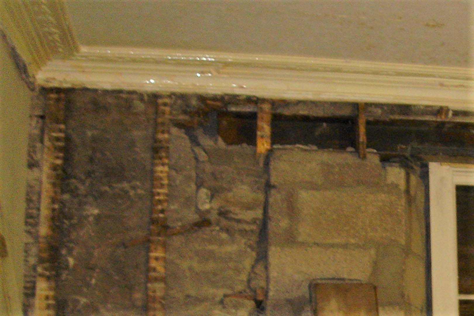 Georgian House image of wall during restoration