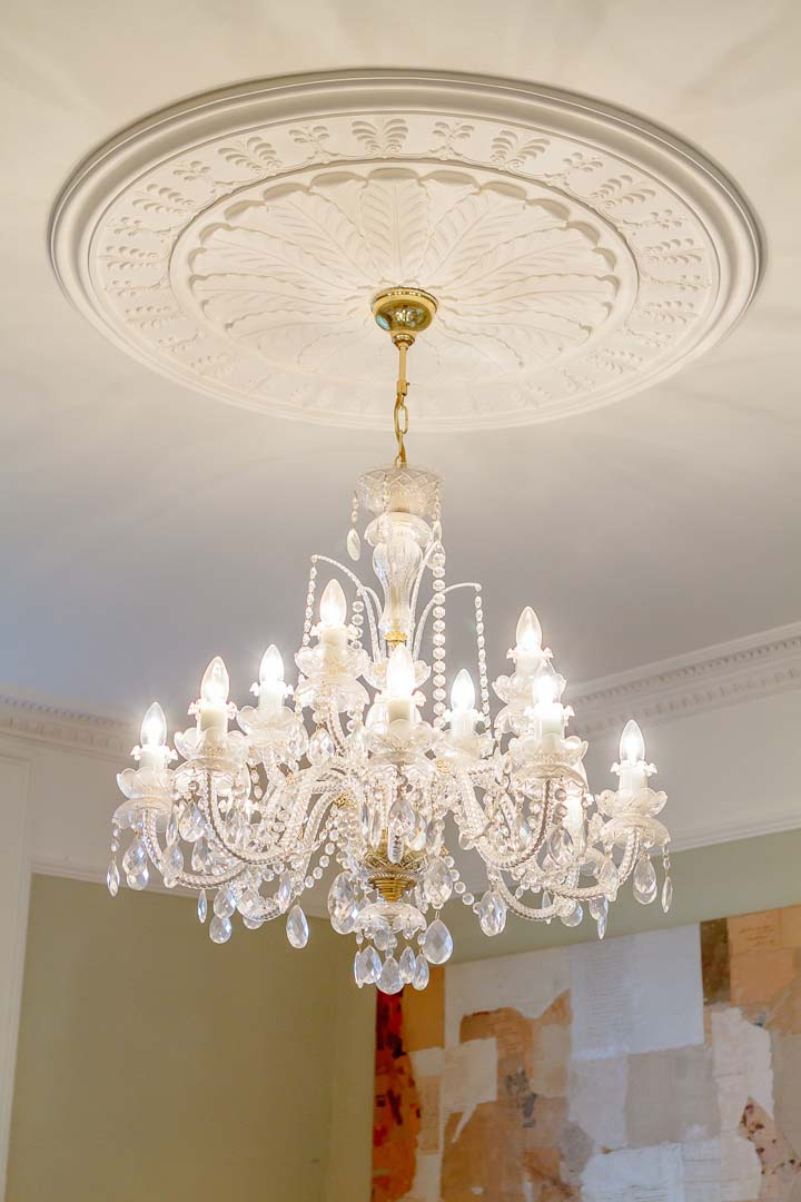 Georgian House image ceiling light following restoration