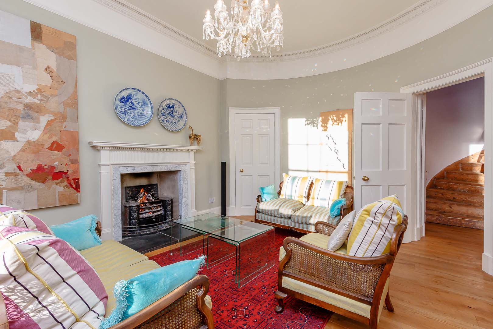 Georgian House image sitting room with fireplace on