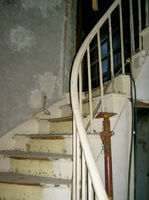 Georgian House image of staircase before restoration