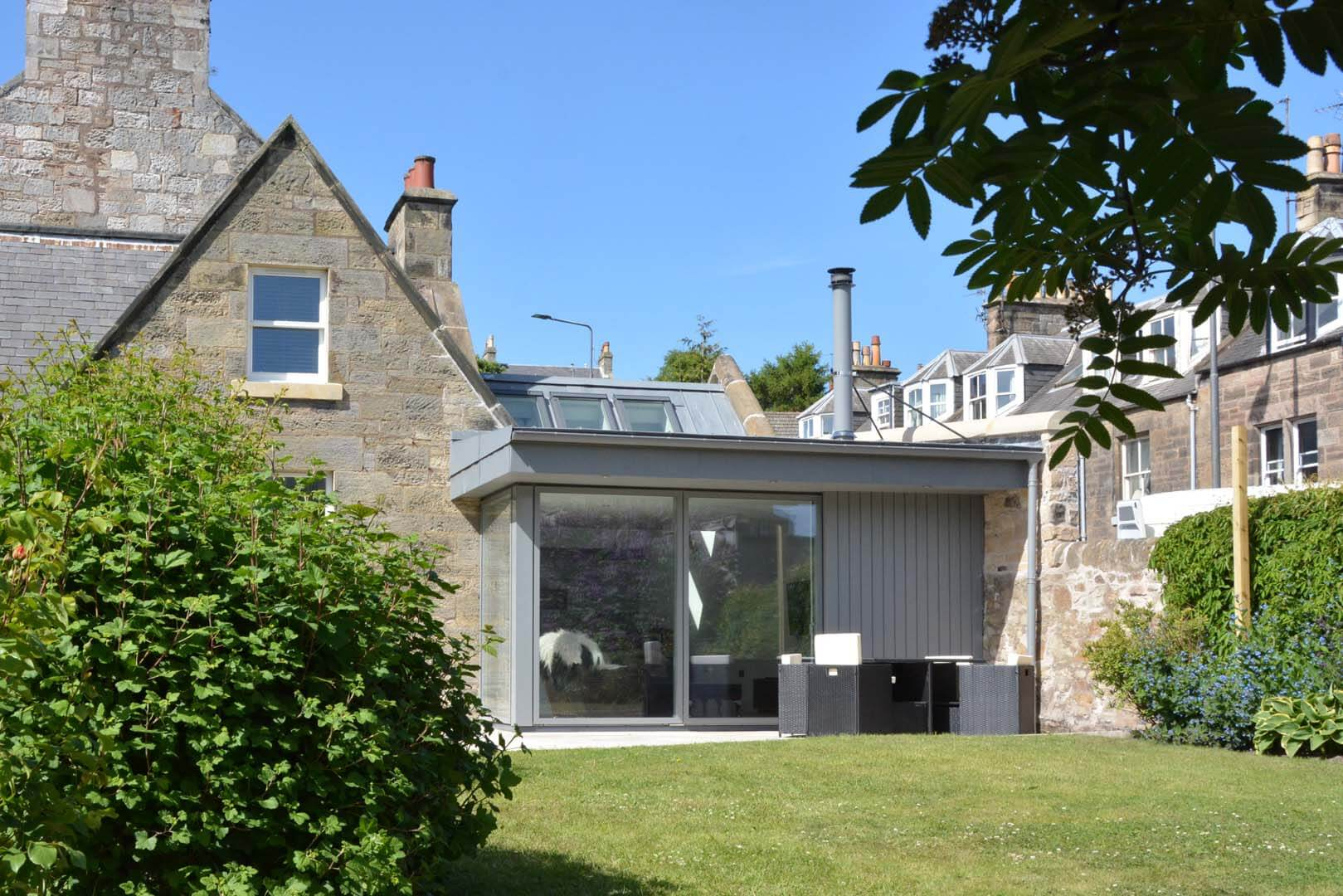 Refurb and Extension Traditional Cottage Side View from Garden