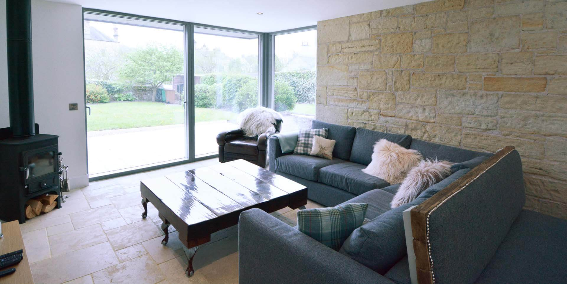 Refurb and Extension Traditional Cottage Living Room