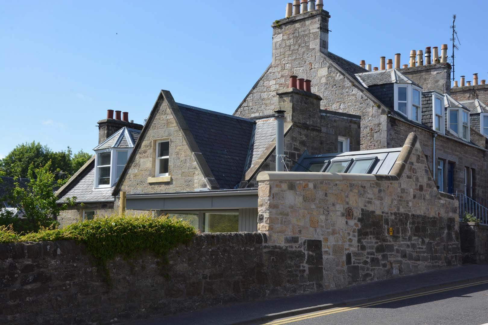 Refurb and Extension Traditional Cottage Outside Road view