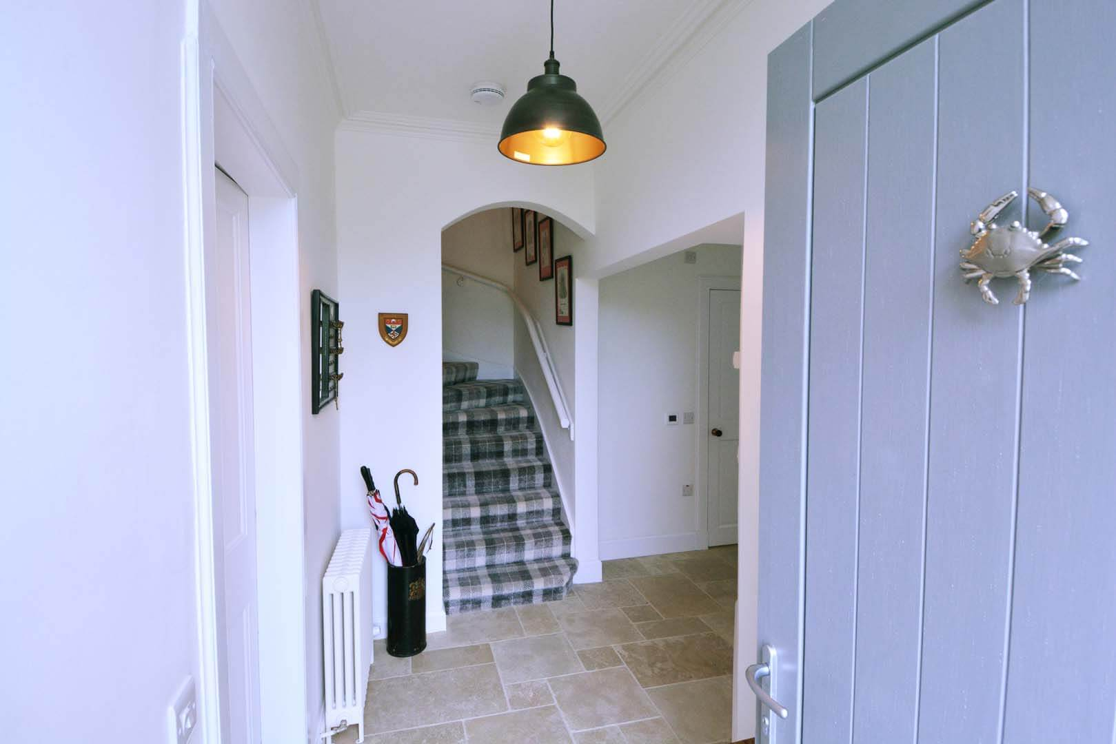 Refurb and Extension Traditional Cottage Front door looking into Reception