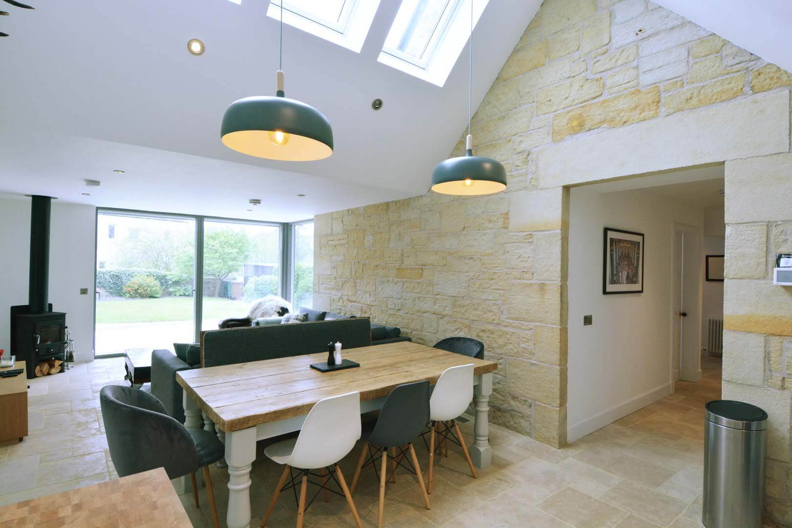 Refurb and Extension Traditional Cottage Kitchen looking into Dinning Room