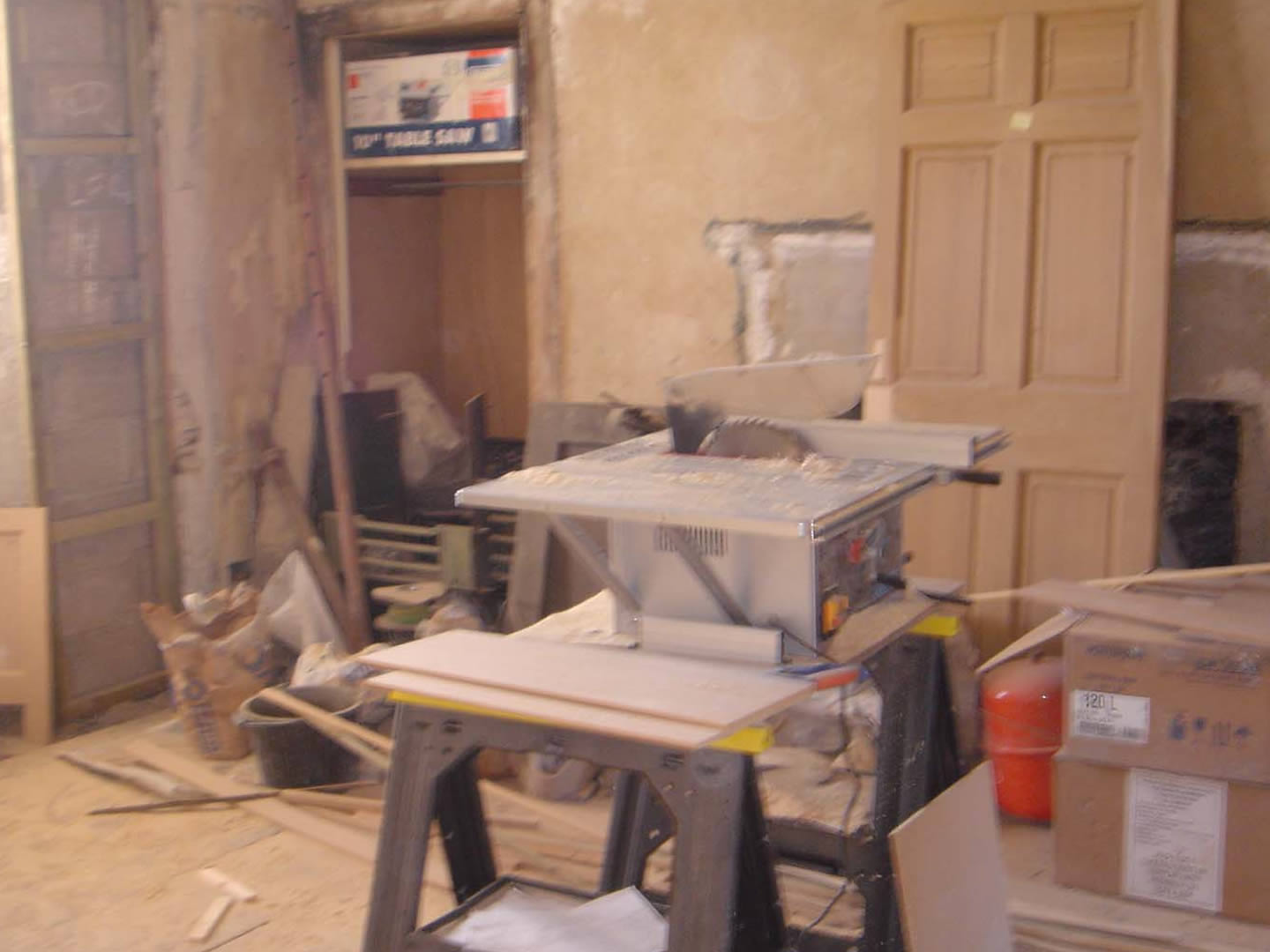dining room during restoration