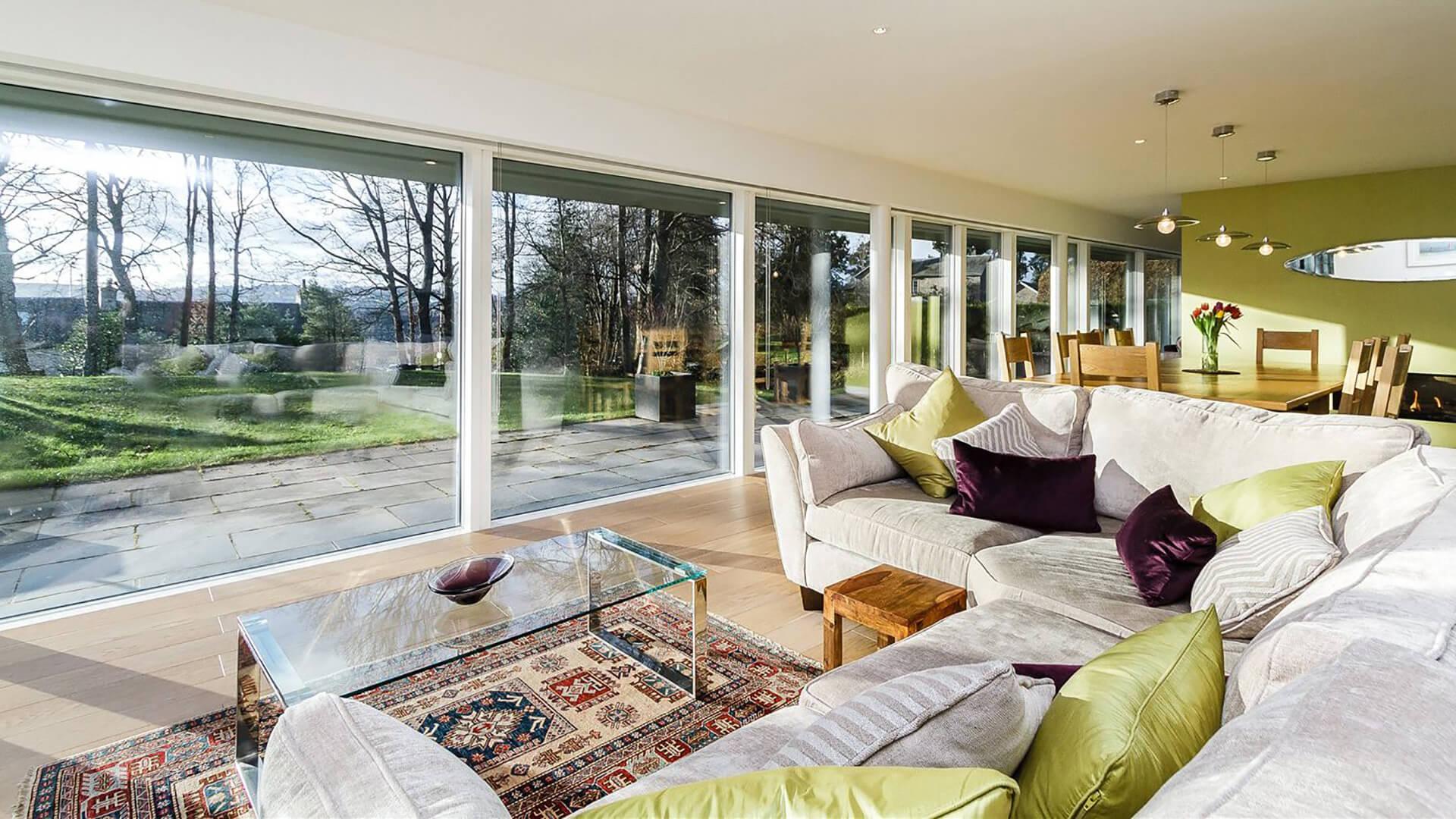 Bellwood Timber Frame House living room